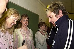 Star Winners meet Simon Le-Bon and the band backstage before Duran Duran, the original line up play Sheffield Hallam FM Arena Tuesday 27th April 2004