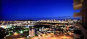 Waikiki at twilight, Oahu, Hawaii