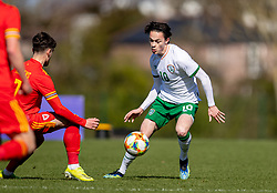 WREXHAM, WALES - Friday, March 26, 2021: Wales' Siôn Spence during an Under-21 international friendly match between Wales and Republic of Ireland at Colliers Park. Republic of Ireland won 2-1. (Pic by David Rawcliffe/Propaganda)