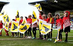 Oxford United flag barer's - Mandatory by-line: Robbie Stephenson/JMP - 04/03/2017 - FOOTBALL - Kassam Stadium - Oxford, England - Oxford United v Bristol Rovers - Sky Bet League One