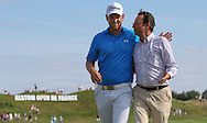 With FFGOLF's President Pascal Grizot, Bernd Wiesberger (AUT) celebrates winning the Final Round of the 2015 Alstom Open de France, played at Le Golf National, Saint-Quentin-En-Yvelines, Paris, France. /05/07/2015/. Picture: Golffile | David Lloyd<br /> <br /> All photos usage must carry mandatory copyright credit (© Golffile | David Lloyd)
