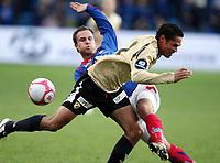 Fotball, 9. november 2008, NM finale , Cupfinale Cup-finale Vålerenga - Stabæk<br /> <br /> Vålerenga vant cupfinalen 2008 4-1<br /> Norgesmester<br /> Daniel Nannskog , Stabæk <br /> Kristofer Hæstad , VIF