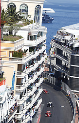 May 28, 2017 - Monte Carlo, Monaco - Motorsports: FIA Formula One World Championship 2017, Grand Prix of Monaco, .#5 Sebastian Vettel (GER, Scuderia Ferrari), #20 Kevin Magnussen (DEN, Haas F1 Team), #7 Kimi Raikkonen (FIN, Scuderia Ferrari) (Credit Image: © Hoch Zwei via ZUMA Wire)