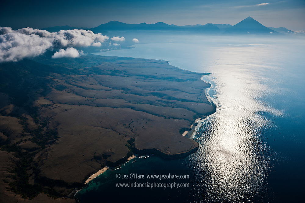 South coast of Flores & Mt. Inerie, East Nusa Tenggara, Indonesia.