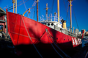 New York City: ship docked at South Street Seaport