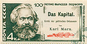 stamp printed by Russia, shows portrait Karl Marx, circa 1967