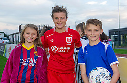 Hayley Ladd midfielder for Bristol City Women poses with young fans - Mandatory by-line: Paul Knight/JMP - 24/09/2016 - FOOTBALL - Stoke Gifford Stadium - Bristol, England - Bristol City Women v Durham Ladies - FA Women's Super League 2
