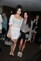 Left to right, DAISY LOWE and ELIZA DOOLITTLE at a party to celebrate the publication of Vintage Craft - 50 Craft Projects and Home Styling Advice by Pearl Lowe held at Soho House, Old Compton Street, London on 8th May 2013.
