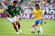 Filipe Luis of Brazil and Edson Alvarez of Mexico during the 2018 FIFA World Cup Russia, round of 16 football match between Brazil and Mexico on July 2, 2018 at Samara Arena in Samara, Russia - Photo Thiago Bernardes / FramePhoto / ProSportsImages / DPPI