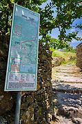 Walking map in Corniglia, Cinque Terre, Liguria, Italy