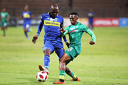 23102018 (Durban) Cape Town City player Thami Mkhize trying to block Amazulu player Sbusiso Mabiliso during the first round of the Telkom Knockout concludes on Tuesday night when Amazulu walloped the MTN8 Cup winners Cape Town City  2-0 at the King Zwelithini stadium, Durban. Amazulu making their way to the quarter finals were they would be playing against Orlando Pirates at the same venue.<br /> Picture: Motshwari Mofokeng/African News Agency (ANA)