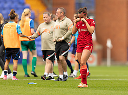 BIRKENHEAD, ENGLAND - Sunday, August 29, 2021: Liverpool's Leighanne Robe looks dejected after the FA Women's Championship game between Liverpool FC Women and London City Lionesses FC at Prenton Park. London City won 1-0. (Pic by Paul Currie/Propaganda)