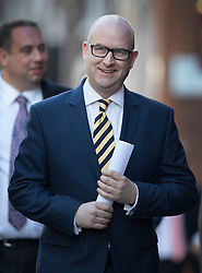 © Licensed to London News Pictures. 28/11/2016. London, UK. Paul Nuttall arrives at the Emmanuel Centre in Westminster London - just before he is announced as the new leader of the UK Independence Party (UKIP). Photo credit: Peter Macdiarmid/LNP