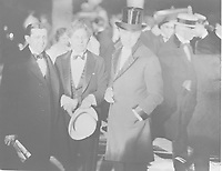 1927 Will Hayes, Sid Grauman & DW Griffith at the premiere of King of Kings at Grauman's Chinese Theater