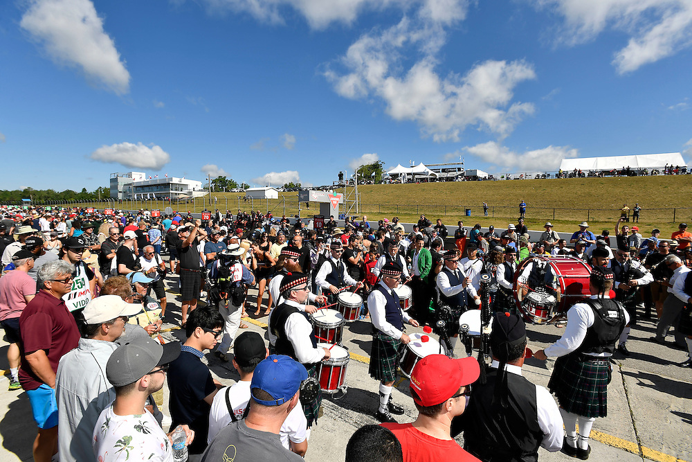 7-10 July 2016, Bowmanville, Ontario Canada<br /> Drum and Pipe band on the grid, atmosphere <br /> ©2016, Scott R LePage <br /> LAT Photo USA