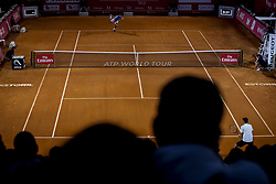 May 4, 2018 - Lisbon, Portugal - General view of the pitch during the game of Nicolas Jarry and Pablo Carreno Busta during the Millennium Estoril Open tennis tournament in Estoril, outskirts of Lisbon, Portugal on May 4, 2018  (Credit Image: © Carlos Costa/NurPhoto via ZUMA Press)
