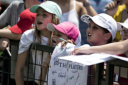 May 11, 2018 - Ponte Vedra Beach, FL, USA - The Players Championship 2018 at TPC Sawgrass..Young fans wait for autographs. (Credit Image: © Bill Frakes via ZUMA Wire)
