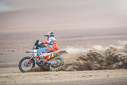 Laia Sanz (ESP) of of Red Bull KTM Factory Team races during stage 4 of Rally Dakar 2019 from Arequipa to Tacna, Peru on January 10, 2019. // Flavien Duhamel/Red Bull Content Pool // AP-1Y3A643T52111 // Usage for editorial use only // Please go to www.redbullcontentpool.com for further information. //