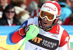 Silvan Zurbriggen at 9th men's slalom race of Audi FIS Ski World Cup, Pokal Vitranc,  in Podkoren, Kranjska Gora, Slovenia, on March 1, 2009. (Photo by Vid Ponikvar / Sportida)