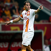 Galatasaray's Johan Elmander during their friendly soccer match Galatasaray between ACF Fiorentina at the TT Arena in istanbul Turkey on Wednesday 08 August 2012. Photo by TURKPIX