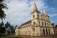Santa Cruz Cathedral Basilica in Fort Kochi is one of the heritage buildings of Kerala. The basilica is of the Diocese of Cochin, one of the oldest Diocese of India. It was originally built  by the Portuguese  & designated  to Cathedral by Pope Paul IV in 1558, . The British demolished the structure and Bishop Gomes Ferreira rebuilt it in  1887.  Santa Cruz was later proclaimed a Basilica by Pope John Paul II in 1984