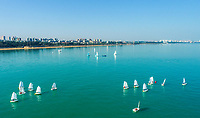 While its freezing in the north, Sailing teams busy with exercise in warm winter in Haikou West Coast National Sailing Training Base, south China's Hainan Province, 13, January 2021.