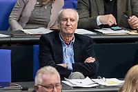 14 FEB 2019, BERLIN/GERMANY:<br /> Wilhelm von Gottberg, MdB, AfD, Bundestagsdebatte, Plenum, Deutscher Bundestag<br /> IMAGE: 20190214-01-041<br /> KEYWORDS: Bundestag, Debatte