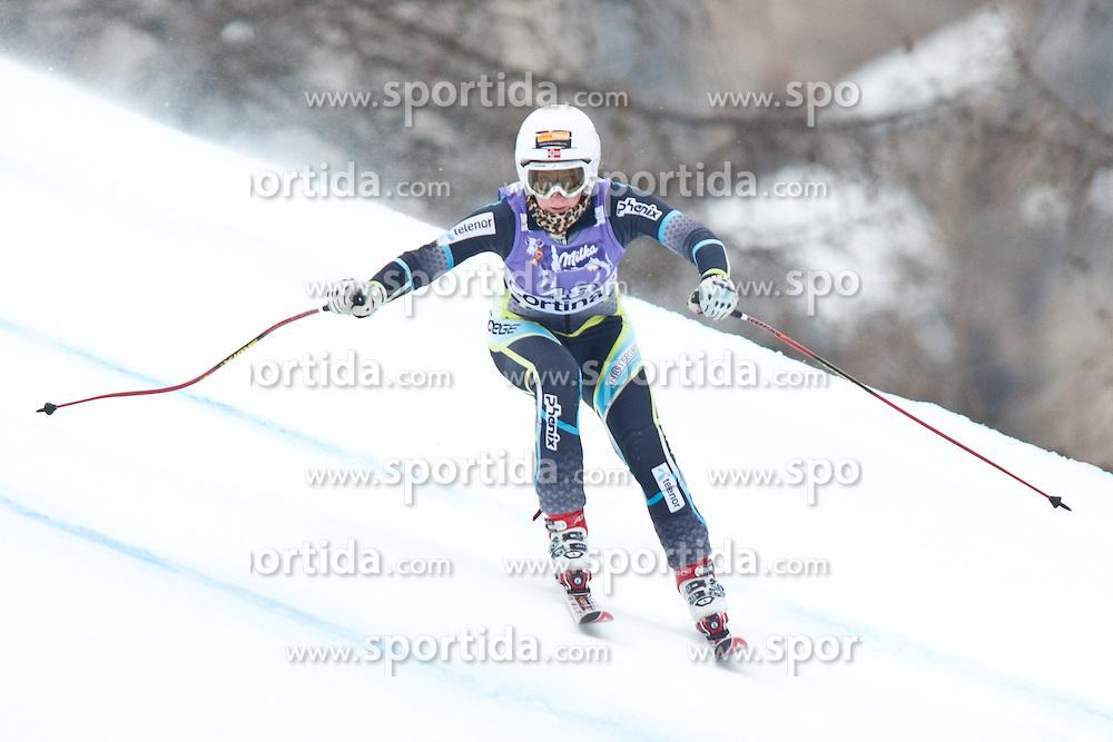 20.01.2011, Tofana, Cortina d Ampezzo, ITA, FIS World Cup Ski Alpin, Lady, Cortina, Abfahrt 2. Training, im Bild Lotte Smiseth Sejersted (NOR, #48) // Lotte Smiseth Sejersted (NOR) during FIS Ski Worldcup ladies downhill second training at pista Tofana in Cortina d Ampezzo, Italy on 20/1/2011. EXPA Pictures © 2011, PhotoCredit: EXPA/ J. Groder
