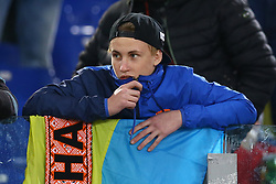 March 13, 2018 - Rome, Italy - AS Roma v FC Shakhtar Donetsk : UEFA Champions League Round of 16 Second leg..Shakhtar supporters at Olimpico Stadium in Rome, Italy on March 13, 2018. (Credit Image: © Matteo Ciambelli/NurPhoto via ZUMA Press)