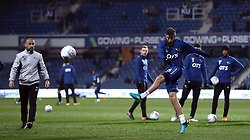 Derby County's Joe Ledley warms up before the Sky Bet Championship match at Loftus Road, London.