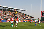 Action from the 2008-2009 opening event in the IRB World sevens series, the Emirates Airline Dubai Sevens 2008 tournament at the new Sevens Stadium in Dubai on 28th/29th November 2008. Wales v Australia