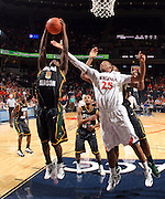 CHARLOTTESVILLE, VA- DECEMBER 6: Bryon Allen #0 of the George Mason Patriots grabs the eboiund next to Mike Scott #23 of the Virginia Cavaliers during the game on December 6, 2011 at the John Paul Jones Arena in Charlottesville, Virginia. Virginia defeated George Mason 68-48. (Photo by Andrew Shurtleff/Getty Images) *** Local Caption *** Mike Scott;Bryon Allen