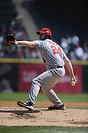 CHICAGO - APRIL 17:  Dan Haren #24 of the Los Angeles Angels of Anaheim pitches against the Chicago White Sox on April 17, 2011 at U.S. Cellular Field in Chicago, Illinois.  The Angels defeated the White Sox 4-2.  (Photo by Ron Vesely)  Subject:  Dan Haren