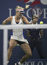 August 30, 2017 - Flushing Meadows, New York, U.S - Angelique Kerber hits a forehand during her match on Day Two of the 2017 US Open with Naomi Osaka  at the USTA Billie Jean King National Tennis Center on Monday August 29, 2017 in the Flushing neighborhood of the Queens borough of New York City. Osaka defeats Kerber, 6-3, 6-1. (Credit Image: © Prensa Internacional via ZUMA Wire)