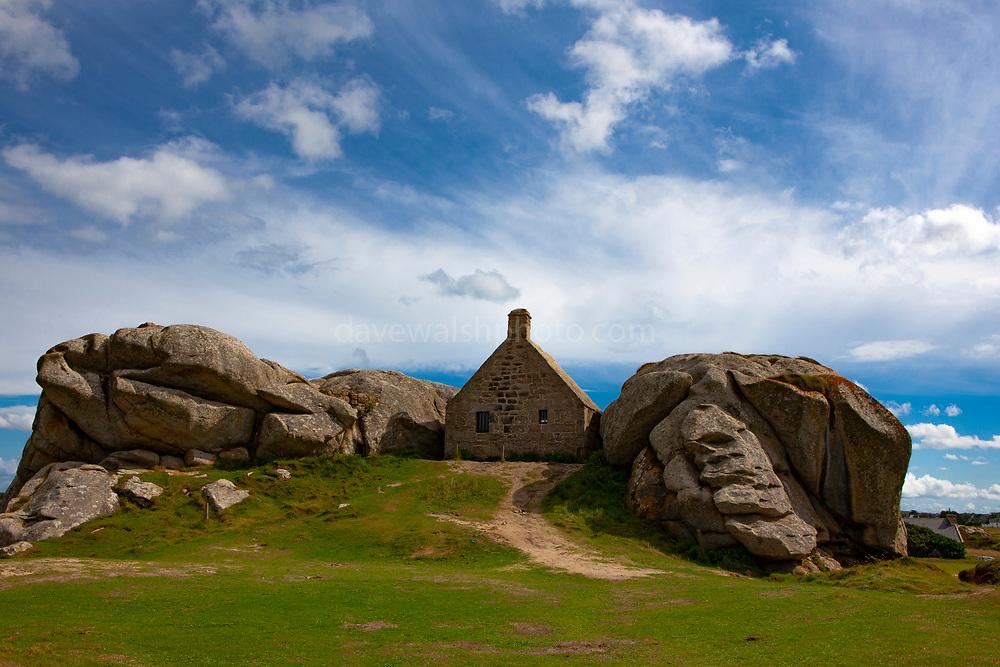 The remarkable hamlet of Meneham in Brittany, France.