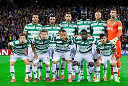 Team of Sporting during football match between NK Maribor and Sporting Lisbon (POR) in Group G of Group Stage of UEFA Champions League 2014/15, on September 17, 2014 in Stadium Ljudski vrt, Maribor, Slovenia. Photo by Vid Ponikvar  / Sportida.com