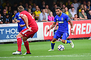 AFC Wimbledon Andy Barcham (17) in action during the Pre-Season Friendly match between AFC Wimbledon and Watford at the Cherry Red Records Stadium, Kingston, England on 15 July 2017. Photo by Jon Bromley.