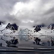 Landscape in Raudfjorden, northern Spitsbergen, Svalbard.