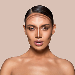 """Kim Kardashian releases a photo on Twitter with the following caption: """"""""The Crème Contour & Highlight Kit comes with 2 dual-ended sticks, one for contour and one for highlight. Use the dual-ended blending brush and sponge to blend into skin #KKWBEAUTY"""""""". Photo Credit: Twitter *** No USA Distribution *** For Editorial Use Only *** Not to be Published in Books or Photo Books ***  Please note: Fees charged by the agency are for the agency's services only, and do not, nor are they intended to, convey to the user any ownership of Copyright or License in the material. The agency does not claim any ownership including but not limited to Copyright or License in the attached material. By publishing this material you expressly agree to indemnify and to hold the agency and its directors, shareholders and employees harmless from any loss, claims, damages, demands, expenses (including legal fees), or any causes of action or allegation against the agency arising out of or connected in any way with publication of the material."""