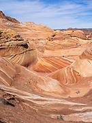 Dramatic sandstone folding at  The Wave, Vermilion Cliffs National Monument, Arizona.