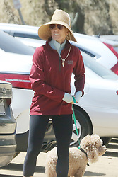 ** PREMIUM EXCLUSIVE RATES APPLY ** Felicity Huffman takes her dog hiking with a friend Felicity Huffman is asked about her ongoing case, her relationship with her daughter and if she's been in touch with others involved. 01 May 2019 Pictured: Felicity Huffman. Photo credit: Rachpoot/MEGA TheMegaAgency.com +1 888 505 6342