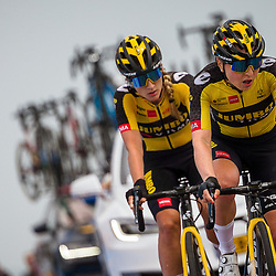 WIJSTER (NED) June 19: <br /> CYCLING <br /> Dutch Nationals Road WOMEN up and around the Col du VAM<br /> Karlijn Swinkels (Netherlands / Team Jumbo-Visma)<br /> Nancy Van der Burg (Netherlands / Team Jumbo-Visma)