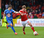 Swindon Town's John Swift on the ball during the Sky Bet League 1 match between Swindon Town and Leyton Orient at the County Ground, Swindon, England on 3 May 2015. Photo by Mark Davies.