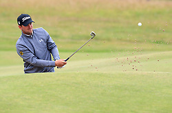 Austria's Bernd Wiesberger chips out of a bunker on the 4th during day one of The Open Championship 2017 at Royal Birkdale Golf Club, Southport. PRESS ASSOCIATION Photo. Picture date: Thursday July 20, 2017. See PA story GOLF Open. Photo credit should read: Peter Byrne/PA Wire. RESTRICTIONS: Editorial use only. No commercial use. Still image use only. The Open Championship logo and clear link to The Open website (TheOpen.com) to be included on website publishing. Call +44 (0)1158 447447 for further information.