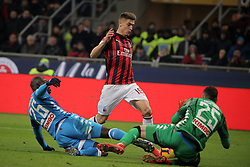 January 26, 2019 - Milan, Milan, Italy - Krzysztof Piatek #19 of AC Milan in action during the serie A match between AC Milan and SSC Napoli at Stadio Giuseppe Meazza on January 26, 2018 in Milan, Italy. (Credit Image: © Giuseppe Cottini/NurPhoto via ZUMA Press)