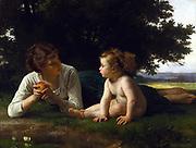 William Adolphe Bouguereau (1825-1905) Temptation (1880)