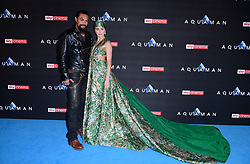 Jason Momoa (left) and Amber Heard attending the Aquaman premiere held at Cineworld in Leicester Square, London.