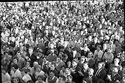 A crowd gathered to see Bing Crosby at a charity golf tournament at Woodbrook, Co. Wicklow.<br />