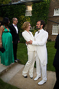 MARGOT STILLEY AND EVGENY LEBEDEV, Raisa Gorbachev Foundation Party, at the Stud House, Hampton Court Palace on June 7, 2008 in Richmond upon Thames, London,Event hosted by Geordie Greig and is in aid of the Raisa Gorbachev Foundation - an international fund fighting child cancer.  7 June 2008.  *** Local Caption *** -DO NOT ARCHIVE-© Copyright Photograph by Dafydd Jones. 248 Clapham Rd. London SW9 0PZ. Tel 0207 820 0771. www.dafjones.com.