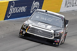 March 1, 2019 - Las Vegas, NV, U.S. - LAS VEGAS, NV - MARCH 01: Kyle Busch (51) Kyle Busch Motorsports (KBM) Toyota Tundra drives through turn two during qualifying for NASCAR Gander Outdoors Truck Series The Strat 200 on March 1, 2019, at Las Vegas Motor Speedway in Las Vegas, Nevada. (Photo by Michael Allio/Icon Sportswire) (Credit Image: © Michael Allio/Icon SMI via ZUMA Press)